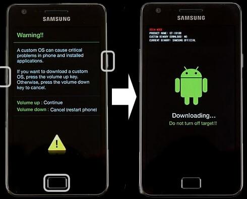 modo descarga celular samsung